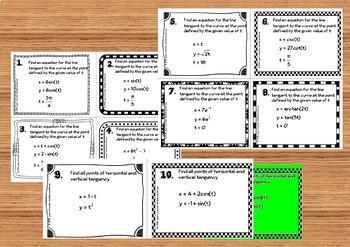 Calculus BC Tangent Lines to Parametrics