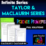 Calculus BC Taylor Series and Maclaurin Series Practice
