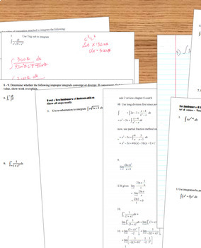 Calculus BC Techniques of Integration Unit Review and Test