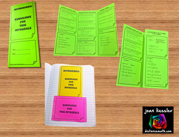 Calculus BC Trigonometric Integrals Task Cards HW Organizer