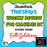 Calculus BC Year Long Weekly Review -  Fun Theme