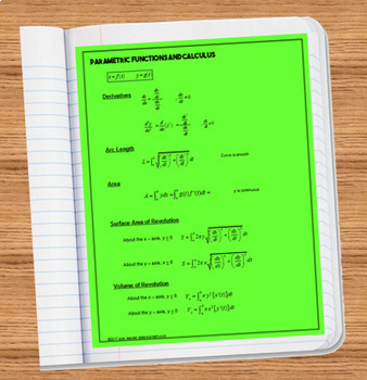 Calculus  BC  or Calculus 2 Polar Functions and Calculus Notes Reference