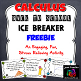 Calculus Back to School Ice Breaker - Fun activity