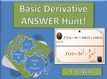 Calculus--Basic Derivative Answer Hunt