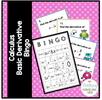 Calculus Basic Derivative Bingo