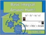 Calculus--Basic Integral Answer Hunt
