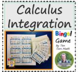 Calculus: Basic Integration bingo game activity