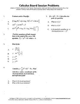 Calculus Board Sessions,Session 11, derivatives,Maximum.minimum,I.P.
