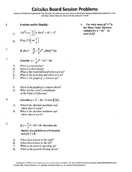 Calculus Board Sessions,Session 12,Maximum.minimum,particle motion