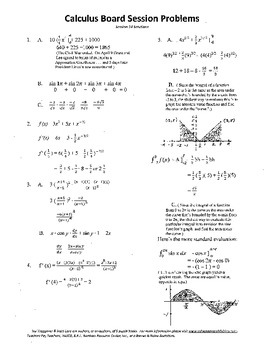 Calculus Board Sessions,Session 14,Mean Value,Average Value,integration
