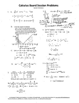 Calculus Board Sessions,Session 20, trigonometric substitution,limits