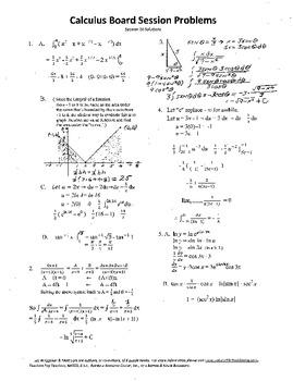 Calculus Board Sessions,Session 20, trigonometric substitu