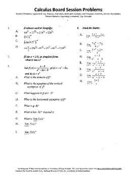 Calculus Board Sessions,Session 4,Functions,Limits,Functions,Asymptotes