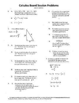 Calculus Board Sessions,Session 5,Functions,Limits,Functio