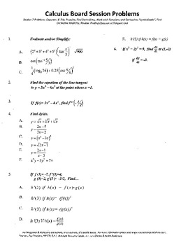 Calculus Board Sessions,Session 7,find derivatives implicitly,function work