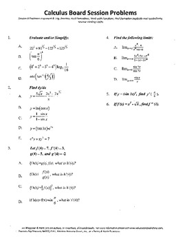 Calculus Board Sessions,Session 9, derivatives,limits,func