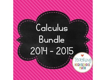 Calculus Bundle 2014 (limits, derivatives, integrals)