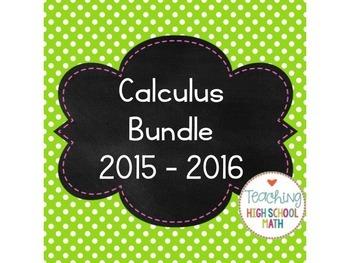 Calculus Bundle (2015 - 2016) Limits, Derivatives, Integrals