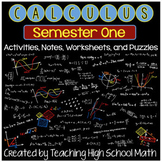 Calculus Bundle-First Semester- Limits, Derivatives, Applications of Derivatives