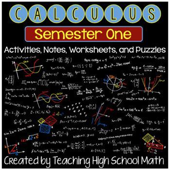 Calculus Bundle-First Semester- Limits, Derivatives, Applications of Derivatives