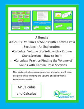 Volume using Known Cross Sections Bundle