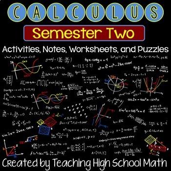 Calculus Bundle - Second Semester- Integrals, Applications of Integrals