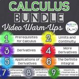 Calculus Video Warm-Ups Bundle