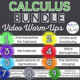 Calculus Video Warm-Ups Bundle