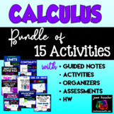 Calculus Bundle of 15 Activities and Resources