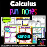 Calculus Bundle of Comic Book No Prep FUN Notes