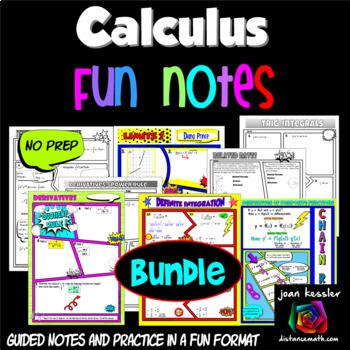 Calculus Interactive Notebooks   Teachers Pay Teachers