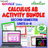 Calculus Digital Bundle of Activities for Units 4 - 6 with GOOGLE Slides™