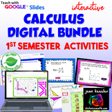 Calculus Digital Activity Bundle First Semester with Google™   Distance Learning