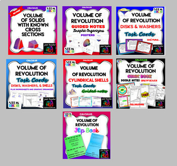 Calculus Bundle of Volume of Revolution Activities for AP Calculus, Calculus 2