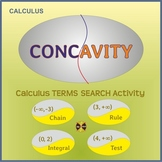 Calculus: Intervals of CONCAVITY -Calculus TERMS SEARCH Group Activity( for 2/4)