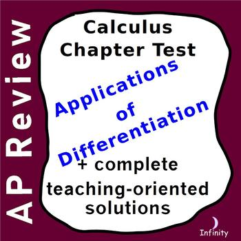 Applications of Differentiation - Test + Teaching Oriented