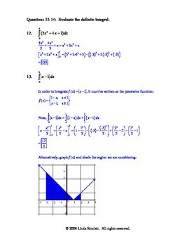 Integration Chapter Test and Complete Solutions / Calculus AP / Self Teaching