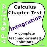 Integration Test and Solutions - AP Calculus