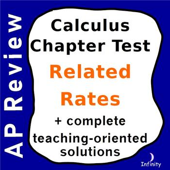 Related Rates Test / Quiz / Lesson + Teaching Solutions /
