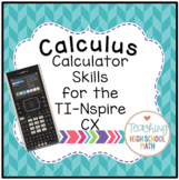Calculus Calculator Skills for the TI-Nspire