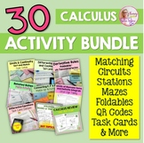 AP Calculus Full Year of Activities Bundle