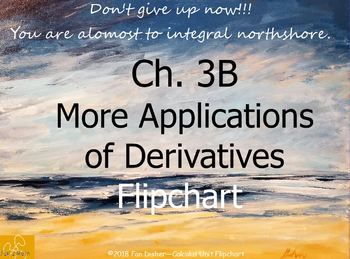 Calculus Ch. 3B: More Applications of Derivatives Unit Flipchart