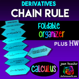 Calculus Chain Rule Derivatives Foldables plus HW