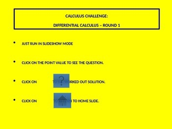 Calculus Challenge - Differential Equations - Round 1