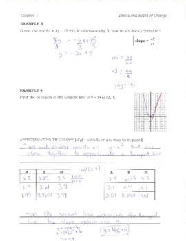 Calculus Chapter 1 key