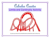 Calculus Coaster (Limits and Continuity Activity)