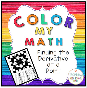 Calculus Color My Math Derivative at a Point