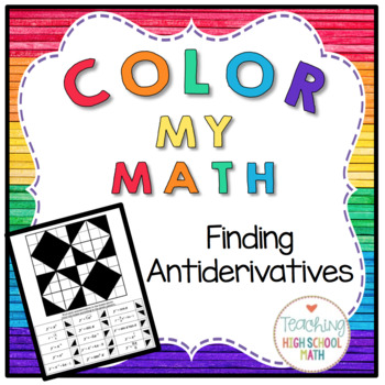 Calculus Color My Math Finding Antiderivatives