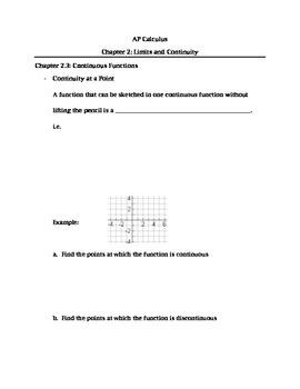 Calculus: Continuity
