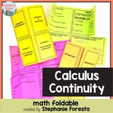 Calculus Continuity Foldable